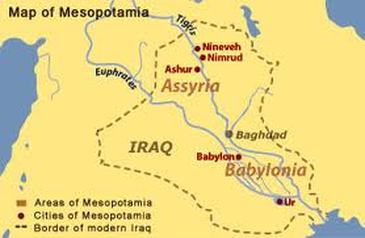 Geography Mesopotamia - Tigris and euphrates river map